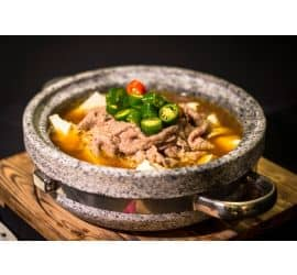 Stone Grilled lamb and Tofu