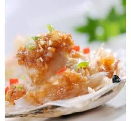 Garlic steamed scallops with fans