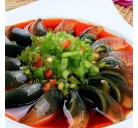 Green Pepper with Century Egg